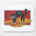 Gato en vintage del papel matamoscas tapete de raton