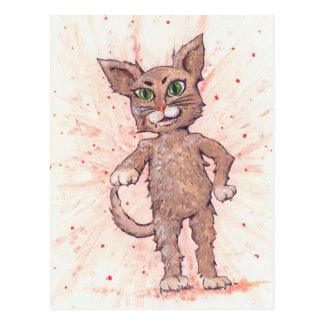 Gato enérgico postal