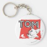 Gato enojado de Tom y Jerry Llavero Redondo Tipo Pin