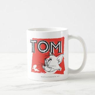 Gato enojado de Tom y Jerry Taza Básica Blanca