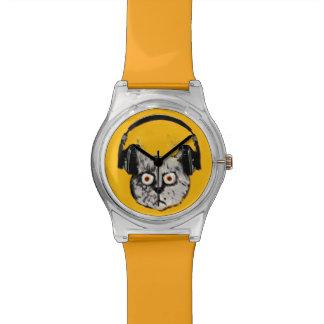gato enojado divertido DJ Reloj De Mano