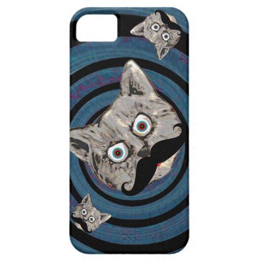gato enojado en un espiral iPhone 5 Case-Mate cárcasas