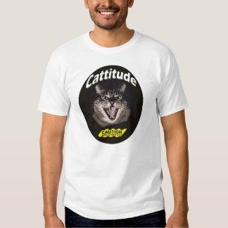 gato enojado remera