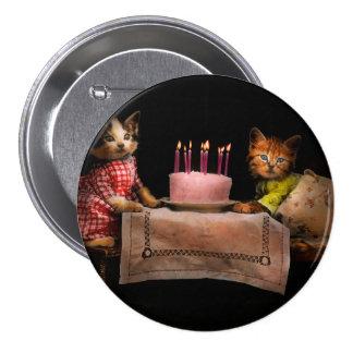 Gato - es nuestro cumpleaños - 1914 chapa redonda 7 cm