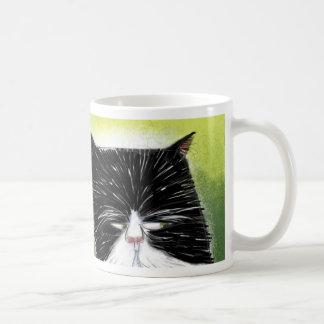 Gato escéptico taza