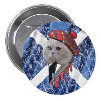 Gato escocés chapa redonda 7 cm