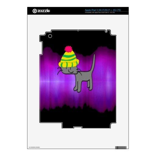 Gato estupendo de la estrella pegatina skin para iPad 3