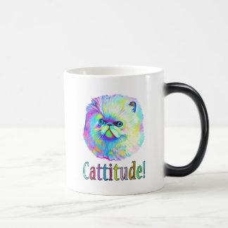 Gato exótico con Catitude en colores Taza Mágica