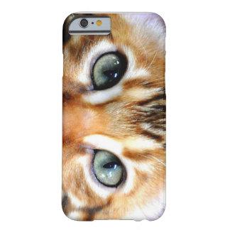 gato exótico de Bengala del caso del iPhone 6 Funda De iPhone 6 Barely There