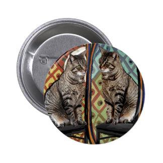 Gato famoso de los gatos de los artistas en un esp pins