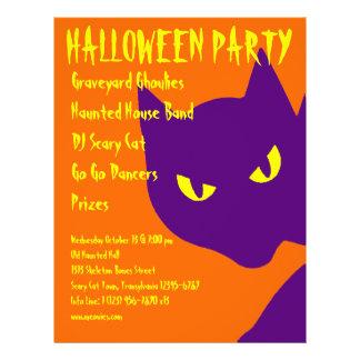 Gato fantasmagórico del gatito del fiesta de Hallo Flyer A Todo Color