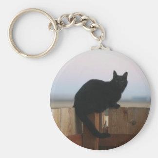 Gato fantasmagórico llavero redondo tipo pin