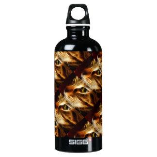 Gato fantasmal hermoso del fuego botella de agua