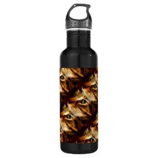 Gato fantasmal hermoso del fuego botella de agua de acero inoxidable