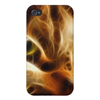 Gato fantasmal hermoso del fuego iPhone 4 protectores