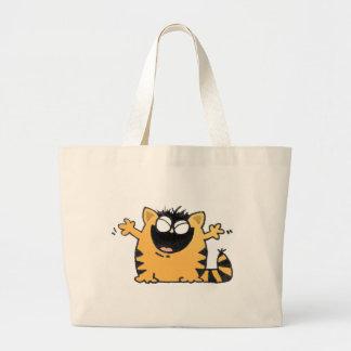 Gato feliz bolsa tela grande