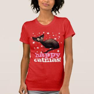 ¡Gato feliz de Catmas! Navidad divertido Playera