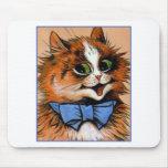 Gato feliz (imagen del vintage) alfombrilla de ratones