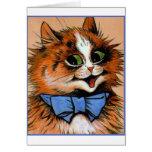 Gato feliz (imagen del vintage) tarjetas