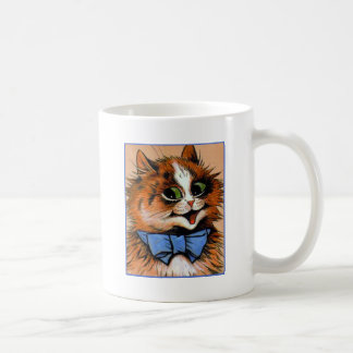 Gato feliz (imagen del vintage) taza de café