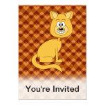Gato feliz invitación 12,7 x 17,8 cm