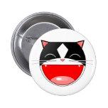 Gato feliz pin