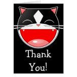Gato feliz tarjeta de felicitación