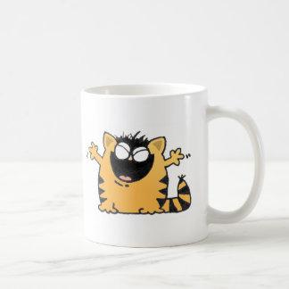 Gato feliz tazas de café
