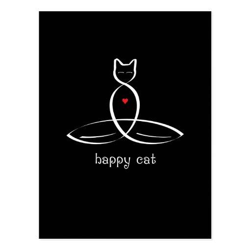 Gato feliz - texto de lujo del estilo tarjetas postales