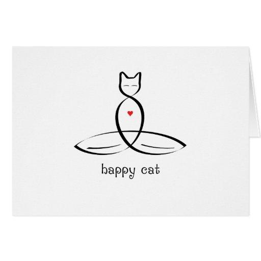 Gato feliz - texto de lujo del estilo tarjeton