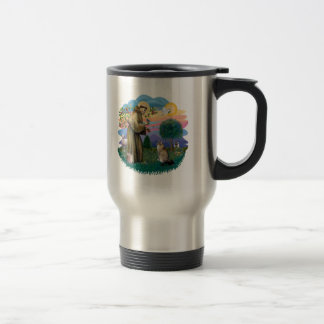 Gato (ff) de Coon de St Francis - de Maine (tabby) Tazas De Café