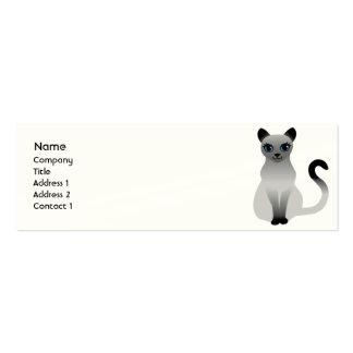 Gato - flaco tarjetas de visita mini