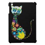 Gato floral colorido iPad mini protector