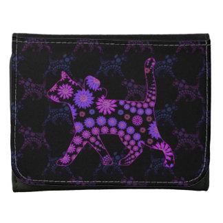 Gato floral púrpura del gatito
