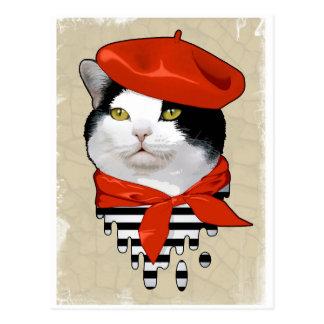 gato. Francés Tarjeta Postal
