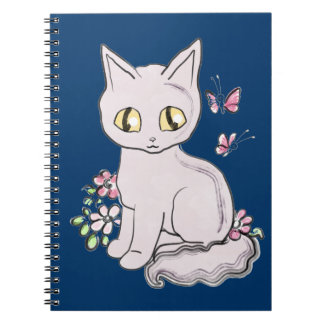 Gato fresco BG azul marino del gatito Cuadernos