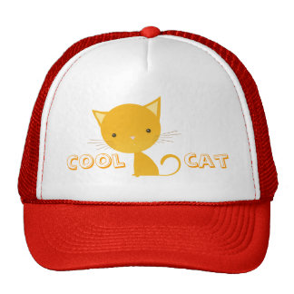 Gato fresco - casquillo gorros bordados