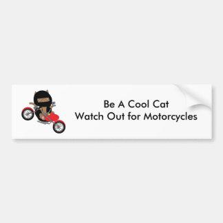 Gato fresco de la seguridad de la motocicleta pegatina para coche