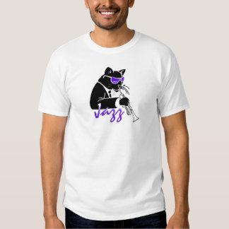 Gato fresco de la trompeta del jazz camisas