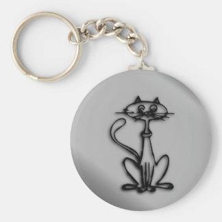 Gato fresco del gatito llaveros personalizados
