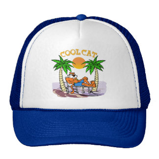 Gato fresco gorras de camionero