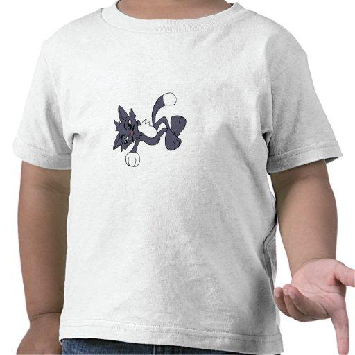 Gato fresco gris camiseta
