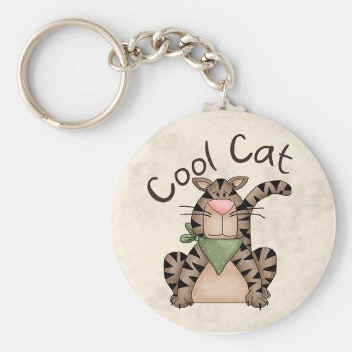 Gato fresco llavero personalizado