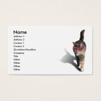 Gato fresco tarjetas de visita