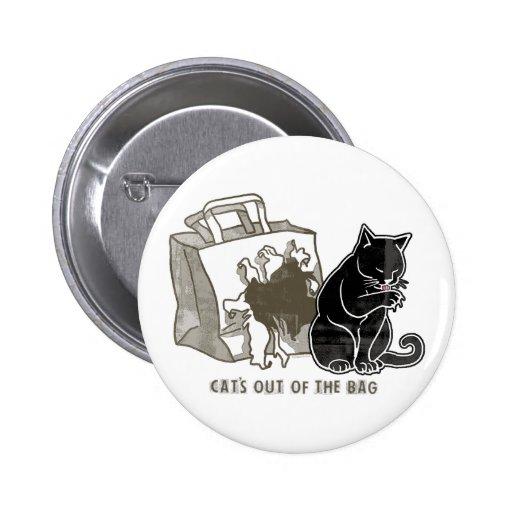 Gato fuera de las ideas del regalo del bolso pin