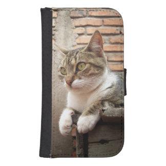 gato funda billetera para teléfono