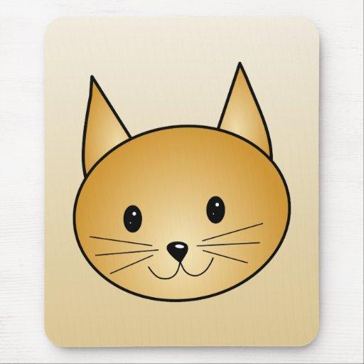 Gato. Gatito lindo del jengibre Alfombrilla De Ratón