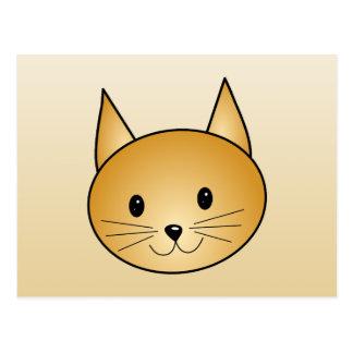 Gato. Gatito lindo del jengibre Tarjetas Postales