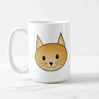 Gato. Gatito lindo del jengibre Tazas