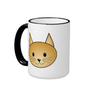 Gato. Gatito lindo del jengibre Taza De Café